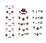 Wall Stickers Wall Decals Style Cute Face PVC Wall Stickers