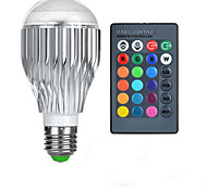 E27 85V-265V 600-800Lm 10W RGB Remote Control LED Colorful Bulbs