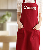 100% Cotton Aprons Kitchen Cooking  with Cookie Style 2 Colors (Red  Beige)