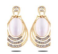 The New OVAL DIAMOND Opal Earrings