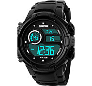 Men's Fashion Sports LCD Digital Rubber Band Waterproof Watch