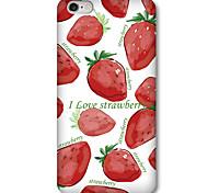 Per Custodia iPhone 5 Fantasia/disegno Custodia Custodia posteriore Custodia Frutta Resistente PC iPhone SE/5s/5
