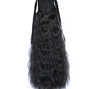Black Deep Wave Lace Wig Corn Hot Ponytails 2