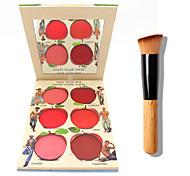 La palette b @ lm labbra e crema guancia + 1 pz pennello in polvere di alta qualità