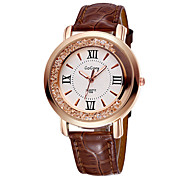 GOGOEY ® Women's Quartz Watches for Fashion Flowing Rhinestone Dial PU Leather Strap Wrist Watches Relogio Feminino