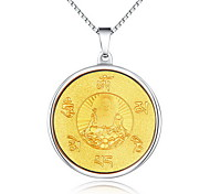 Unisex Fashion Gold Buddha Steel Pendant for Necklace