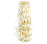 Golden Length 50CM Synthetic Curly Hair Wig Horsetail Melange Belt Type(Color 86/613)