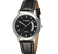 Men's Date Japan Quartz Leather Watch Wrist Watch Cool Watch Unique Watch