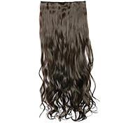 шатенка длина 70см синтетические вьющиеся волосы без следов пять зажим для волос волосы кусок чипа (цвет 4)
