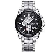 Men's Wrist watch Quartz Calendar Water Resistant / Water Proof Casual Watch Stainless Steel Band Silver