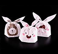 20Pcs Rabbit Cookie Plastic Candy Biscuit Packaging Bag Wedding Gift Brand(Random Color)