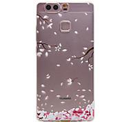 TPU Material Plum Flower Pattern Slim Phone Case for Huawei P9 Lite/P9
