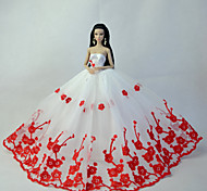 Party & Evening Dresses For Barbie Doll Red / White Dresses