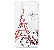 For Samsung Galaxy Case Pattern Case Back Cover Case Eiffel Tower Soft Silicone J5