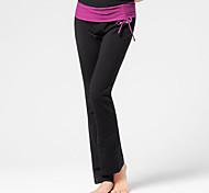 Pantaloni da yoga Pantalone/Sovrapantaloni Traspirante Privo di elettricità statica Naturale Elastico Abbigliamento sportivo NeroPer