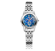 Women's Fashionable Simple Stainless Steel Blue Surface Quartz Watch