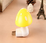 Creative  White Mushroom Shape Light Sensor Night Light Yellow/Green