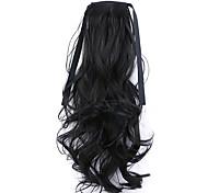 черный длина 50см завод прямые продажи связать тип локон хвощ волос хвостик (цвет 2)