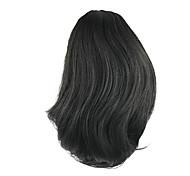 parrucca lunghezza nero breve coda di cavallo 25 centimetri sintetica ad alta temperatura dritto filo di colore 2