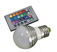 3W E26/E27 Bombillas LED de Globo A50 1 LED de Alta Potencia 100-180 lm RGB Control Remoto AC 85-265 V 1 pieza