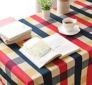 Plaid Pattern Table Cloth Fashion Hotsale High-grade Cotton Linen Square Coffee Table Cloth Cover Towel