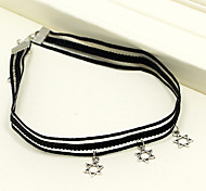 Black Lace Choker Necklace Jewelry with Star Pendant