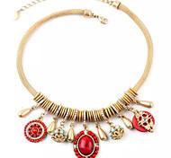 Ожерелье Ожерелья с подвесками Бижутерия Для вечеринок / Повседневные Сплав / Резина Красный / Синий 1шт Подарок