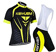 KEIYUEM®Others Unisex Short Sleeve Spring / Summer / Autumn Cycling Clothing bib suits/ Breathable Quick Dry#4