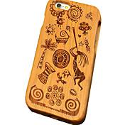 ciliegio legno cultura Maya scultura protettiva copertura posteriore iphone caso duro per il iphone se 5s / iPhone / iPhone 5