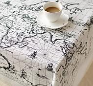 mapa global tabela de padrão de moda pano de linho de algodão de alta qualidade hotsale mesa de café quadrada toalha de capa de pano