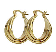 Earring Circle Jewelry Women Fashion Party / Daily / Casual Titanium Steel 1 pair Gold / Yellow Gold
