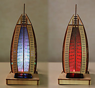 Sailing Hotel 3 D Wooden Furnishing Articles Diy Puzzle Children'S Early Education Assembles Toy Paint Solar Lights Led