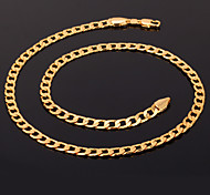U7® 18K Chunky Gold Filled Necklace Figaro Chains High Quality Franco Necklaces Chain for Men 5MM 55CM Jewelry