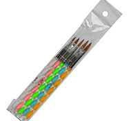1set Include 5 Pieces Coloful Colors Nail Art Acrylic Spiral Pen Nail Makeup Manicure Tools TR31