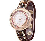 Damenmode Gürtel alten Strass Sand Borer Uhren Quarzuhren