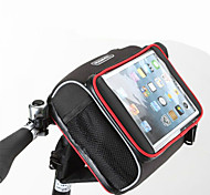 Rosewheel Bike BagBike Handlebar Bag Shoulder Bag Waterproof Zipper Wearable Moistureproof Shockproof Bicycle BagPU Leather Cloth Mesh