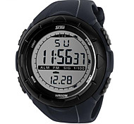 Men's Military Sports LCD Digital Rubber Band Waterproof Watch Wrist Watch Cool Watch Unique Watch