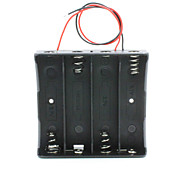 14.8V  4*18650 Battery Holder Case Box with Leads – Black