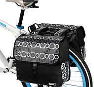 Fahrrad Kofferraum Tasche/Fahrradtasche / Umhängetasche Wasserdicht / Stoßfest / tragbar Radsport PVC / 600D - Polyester Schwarz