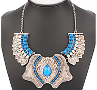 New Hot Sale Bohemia Metal Style Necklaces & Pendants Exaggerated Big Crystal Statement Necklace Multi-layers Jewelry