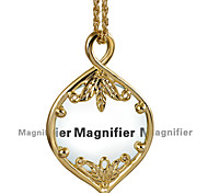 New Concept Women Necklace With Magnifying Glass Pendant Reading Purpose Fashion Nice Looking Convenient 18K Gold Plated