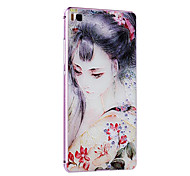 Metallrahmen Schutzhülle hart Malerei für huawei p8 (pink box + klassische Schönheit)