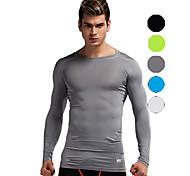 Vansydical Men's Quick Dry Fitness Tops White / Green / Gray / Black / Blue