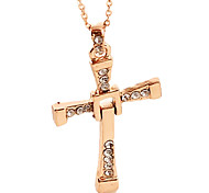 Alloy Necklace, Male Leading Role In Same, Cross Pendants, Men'S Jewelry Gift - Gold