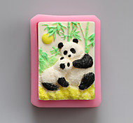 Panda Chocolate Silicone Molds,Cake Molds,Soap Molds,Decoration Tools Bakeware