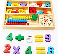 Wooden Toys Digital Learning Multi-Function Digital Box Educational Toys Abacus Alarm Clock