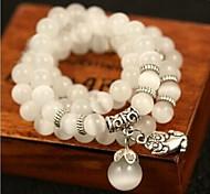 Women Pearl Style Strand Bracelet