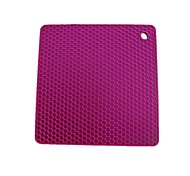 Square Cellular Silicone Mat Insulation Pad Pad Anti-Hot Casserole Temperature Pillowtop 5Pcs