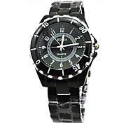 Couple's Wrist watch Quartz Casual Watch Alloy Band Black White