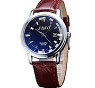 Couple's Fashion Watch Casual Watch Quartz PU Band Brown